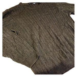 ⚡️IZOD cable knit black heavy duty sweater Sz L
